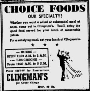 Clingman's (1935-1955)