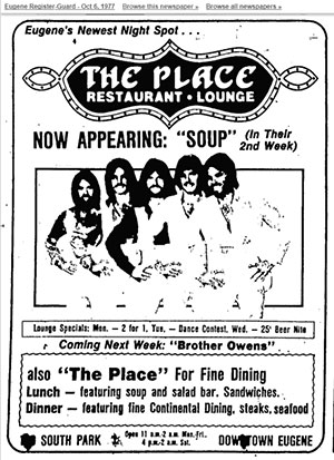 The Place, Oct 6, 1977 Eugene RG Ad