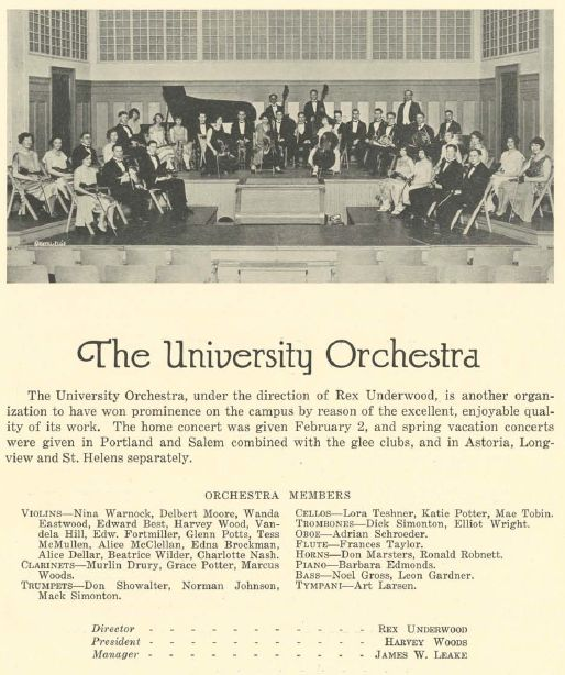 UO Orchestra 1925-26