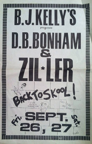 BJ Kelly Poster DB Bonham and Zillar
