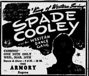 Spade Cooley at Eugene Armory