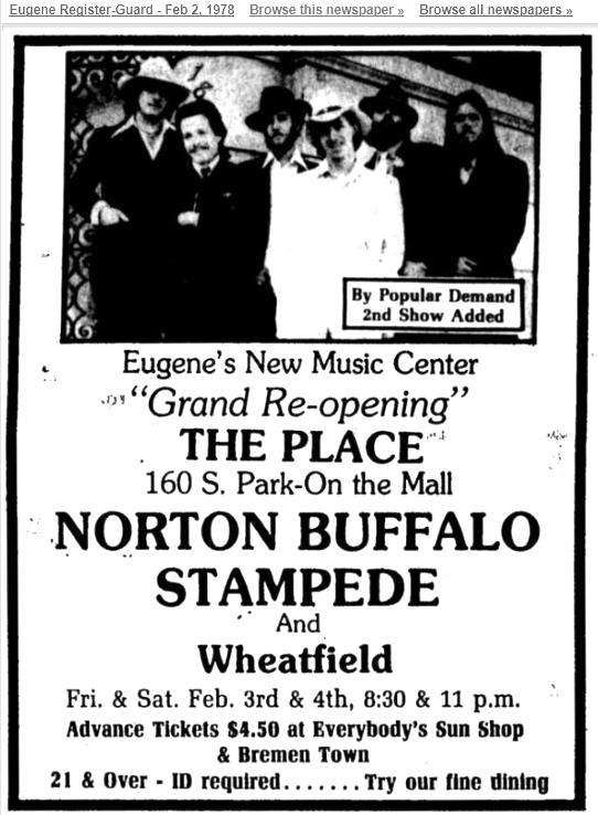 The Place, Norton Buffalo, 1978