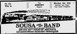 Sousa at the Eugene Armory