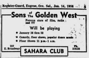 Sahara Club (1956-1962)